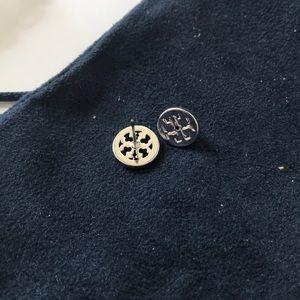 Tory Burch Jewelry - New Tory Burch crystal logo earrings